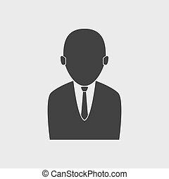 üzletember, vektor, ikon