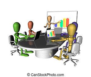 üzleti találkozás, emberek, bemutatás