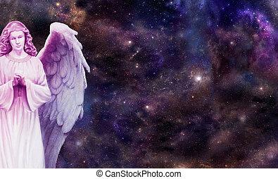 őrzés, angyal, ön, felett