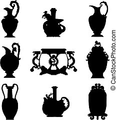 ősi, (vector), váza