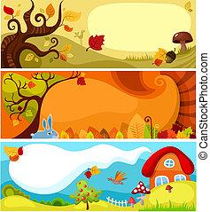 ősz, állhatatos, kártya
