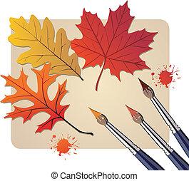 ősz, befest, söpör
