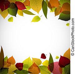 ősz, elvont, őt lap, háttér