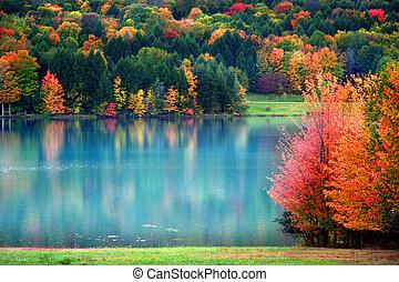 ősz festői, táj