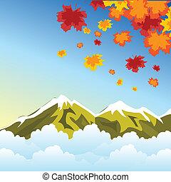 ősz, hegy