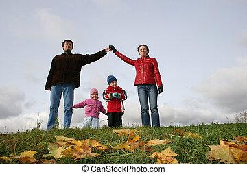ősz, house., gyerekek, család