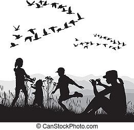 ősz, ország, család