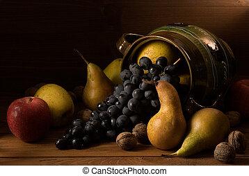 ősz, osztályozás, különféle, gyümölcs