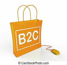 őt előad, ügy, táska, online, b2c, vásárlás