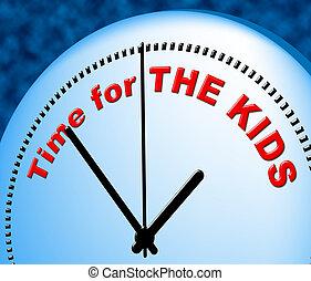 őt előad, gyerekek, igazságos, gyermek, idő, jelenleg