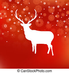 őz, eps, háttér., 8, white christmas, piros