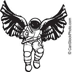 űrhajós, angyal