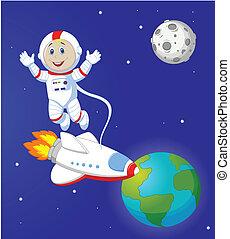 űrhajós, karikatúra