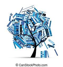 -e, fa, design., előjegyez, évad, könyvtár, tél