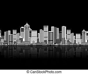 -e, művészet, háttér, seamless, cityscape, urban tervezés