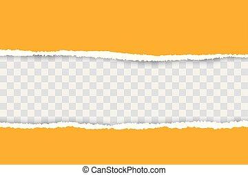 -e, sárga, elszakadt, háttér, transzparens, állás, text., dolgozat