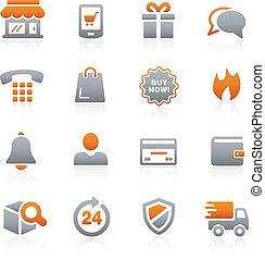 --, e-shopping, ikonok, grafit, sorozat