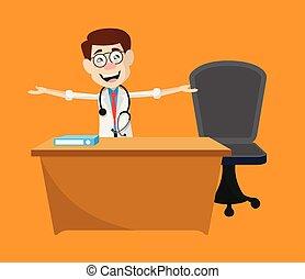 -, gesztus, bőrgyógyász, orvos, beszéd, kéz