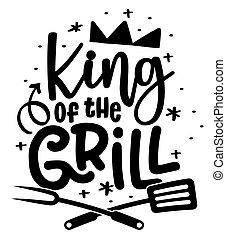 -, grill, label., király