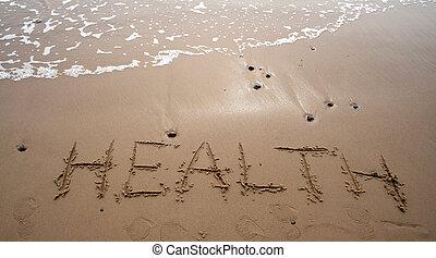 -, homok, egészség, írás