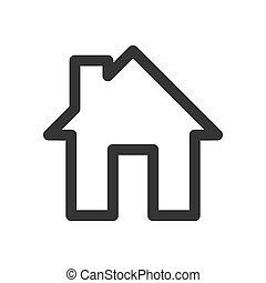 -, ikon, épület, vector.
