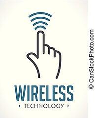 -, kéz, kulcs icon, jel, technológia, aláír, belépés, fogalom, ellenőrzés