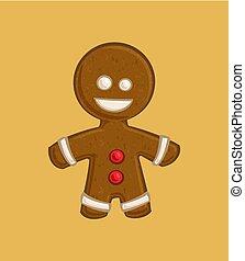 -, karácsony, csiricsáré bábu, karikatúra, ikon