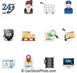 -, munkaszervezési, ikonok, háló