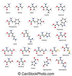 -, savak, szerkezeti, legfontosabb, amino-, kémiai, formulák