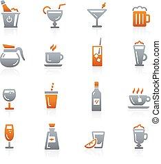--, sorozat, iszik, grafit, ikonok