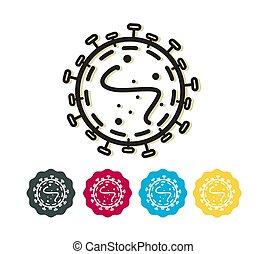 -, szindróma, légzési, coronavirus, vírus, cov, regény, mers, ikon