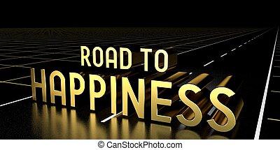-, vakolás, út, boldogság, 3, fogalom