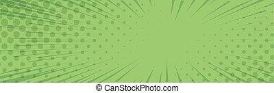 -, vektor, gyertya, körképszerű, komikus, megvonalaz, zöld