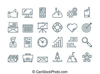 01, állhatatos, áttekintés, ügy icons