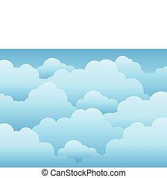 1, ég, felhős, háttér
