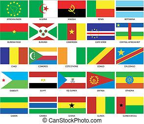 1, 25, zászlók, afrikai
