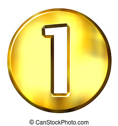 1, arany-, 3, szám, keretezett