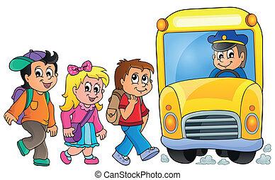 1, autóbusz, izbogis, kép, topic