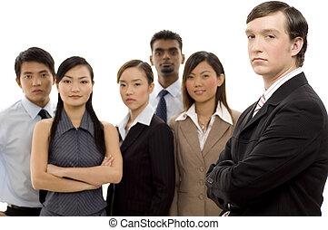 1, csoport, vezető, ügy