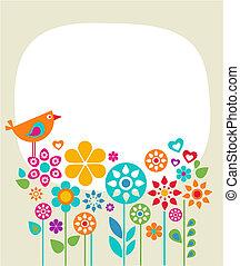 1, húsvét, -, kártya, sablon