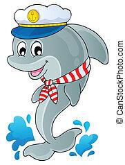 1, kép, delfin, téma