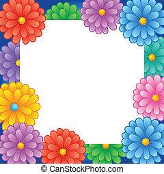 1, keret, virág, téma