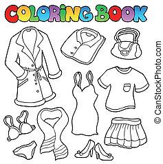 1, színezés, ruha, könyv, gyűjtés