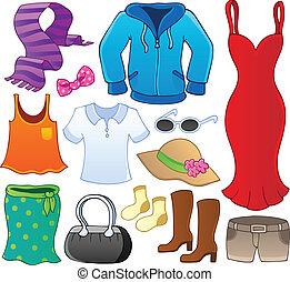 1, téma, gyűjtés, öltözék