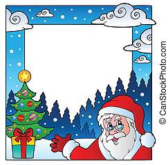 1, téma, karácsony, keret