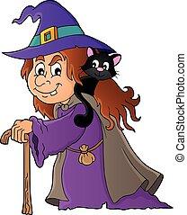 1, topic, kép, boszorkány, macska