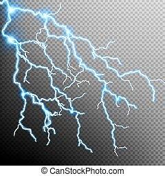10, elektromos, -, eps, villámlás viharzik, bolt.