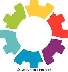10., eps, bekapcsol, sablon, design., ábra, jel, színes, vektor