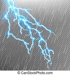 10, flash., eps, eső, villámlás, strike., sablon