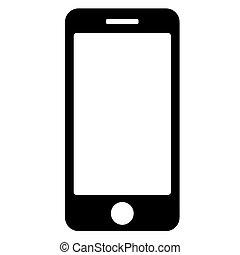 10., telefon, eps, háttér., vektor, fekete, fehér, ikon